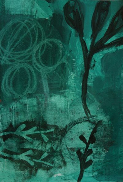 intuitive art green