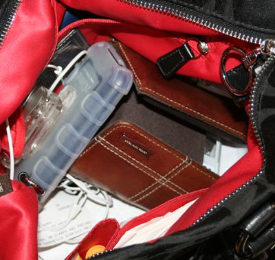 inside my purse. yikes!